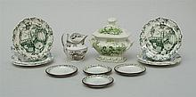 GROUP OF STAFFORDSHIRE TRANSFER-PRINTED MINIATURE CHILD'S TABLE ARTICLES