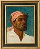 FREDERICK GOODALL (1822-1904): STUDY OF A MAN WEARING A HEAD SCARF, Frederick Goodall, $500