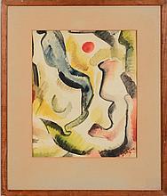 DAVID BURLIUK (1882-1967): UNTITLED