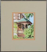 ALTOON SULTAN (b. 1948): CIRCULAR PORCH, SARATOGA SPRINGS, NY