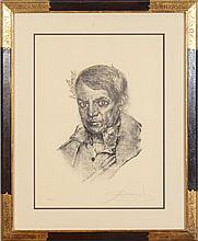 SALVADOR DALI (1904-1989): PORTRAIT OF PABLO PICASSO