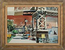 DONG MOY CHU KINGMAN (1911-2000): UNDER THE BRIDGE