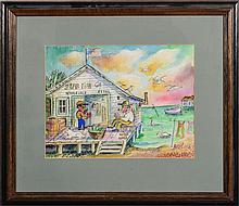 DAVID BURLIUK (1882-1967): STAR FISH CO., FLORIDA