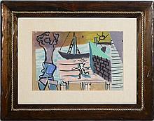 KARL KNATHS (1891-1971): UNTITLED (HARBOR VIEW)