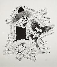 Al Hirschfeld (1903-2003): Marx Brothers 'High Notes'