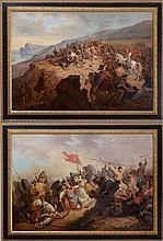 EUROPEAN SCHOOL: PAIR OF BATTLE SCENES OF THE CRUSADES