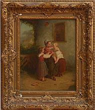 ATTRIBUTED TO HENRI DE BEUL (1845-1900): MOTHER WITH CHILDREN