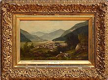 CARL PHILLIP WEBER (1850-1921): VILLAGE UNDER THE MOUNTAINS