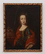 EUROPEAN SCHOOL: PORTRAIT OF A LADY AND PORTRAIT OF A GENTLEMAN
