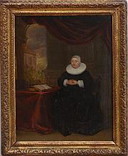 FLEMISH SCHOOL: WOMAN AT HER DESK