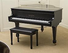 Kohler & Campbell Ebonized Wood Baby Grand Piano
