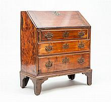 George III Diminutive Walnut Slant-Front Desk