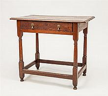 William and Mary Stained Oak Side Table