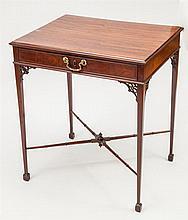 George III Mahogany Single-Drawer Table