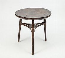 English Circular-Top Wood Tavern Table