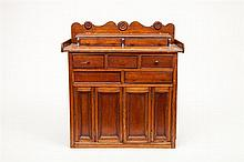 American Miniature Walnut Chest of Drawers