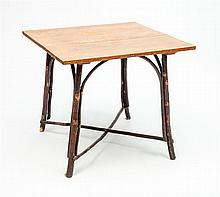Bentwood and Oak Side Table