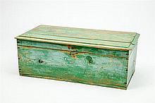 Green Painted Blanket Chest