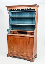 American Blue Painted Pine Cupboard