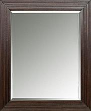 Large American Poplar Wood Tramp Art Style Mirror, Circa 2010
