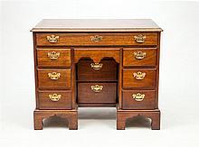 George III Style Mahogany Kneehole Desk