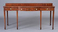 George III Mahogany Inlaid Serving Table