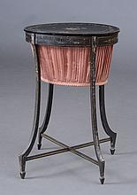 George III Black-Painted Sewing Table