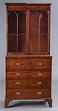 Late George III Mahogany Library Cabinet