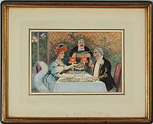 Maurice Milliére (1871-1946): Dinner for Two