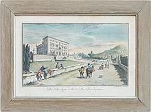 Joseph Zocchi (Giuseppe Zocchi, 1711-1767): Villa Della Luna d'elli SS Mar. Guadagni; and Villa Del Sig. Marchese Bartolini a Rovezz..