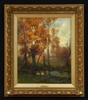 EDWARD LOYAL FIELD (1856 - 1914): AUTUMN IDYLL