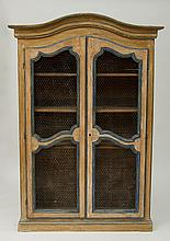 LOUIS XV PROVINCIAL PAINTED BOOKCASE