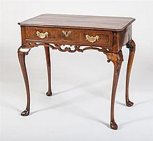 QUEEN ANNE INLAID WALNUT SIDE TABLE