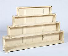 GEORGE III CREAM PAINTED AND PARCEL-GILT BOOKCASE