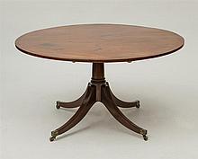 GEORGE III INLAID MAHOGANY TILT-TOP BREAKFAST TABLE