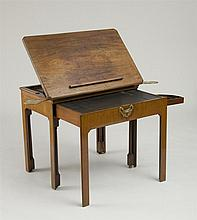 FINE GEORGE III MAHOGANY MECHANICAL READING TABLE