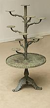 SWEDISH GREEN PAINTED CAST-IRON PLANT STAND, STAMPED J. & C.G. BOLINDER, STOCKHOLM