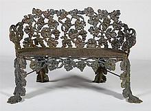 AMERICAN CAST-IRON GARDEN BENCH, MANUFACTURED BY THE KRAMER BROTHERS FOUNDRY, DAYTON, OHIO