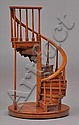 HARDWOOD MODEL OF A SPIRAL STAIRCASE, MODERN