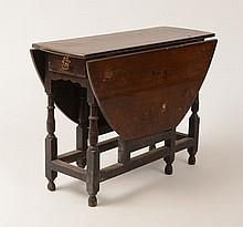 William and Mary Stained Oak Gate-Leg Table