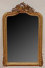 Napoleon III Carved Giltwood Mirror