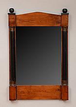 Biedermeier Style Fruitwood and Ebonized Mirror