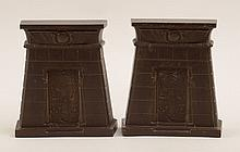 Pair of Egyptian Revival Bronze Bookends