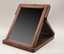 Anglo Indian Teak Travel Folding Mirror