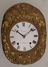 French Brass Comtoise Wall Clock Dial