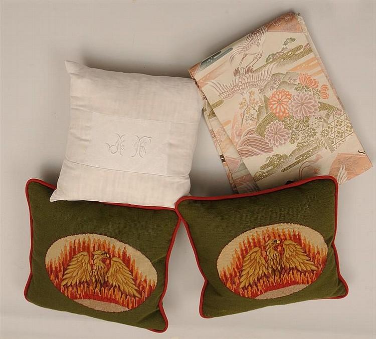 Japanese Silk Machine Embroidered Obi