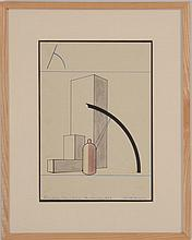 GERD BALZER (1909-1985): ANALYTIC DRAWING, 1929