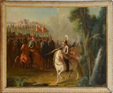 EUROPEAN SCHOOL: INSPECTING THE TROOPS; AND CROSSING A RIVER