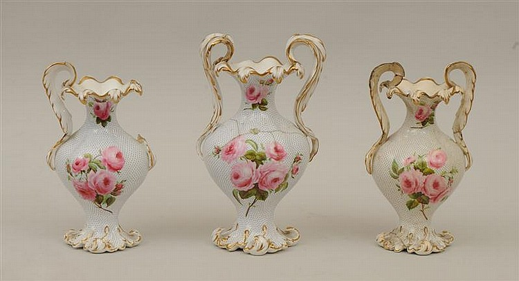 Group of Three English Porcelain Vases