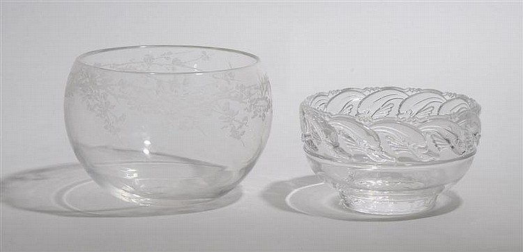 Elsa Peretti Inner Light Crystal Etched Center Bowl, For Tiffany & Co., 1986